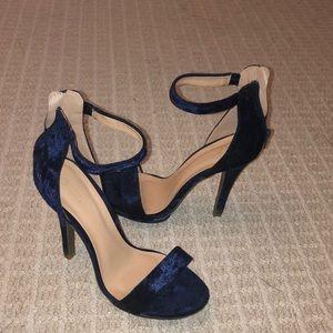 Velvet Blue Heels